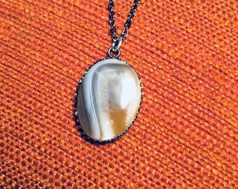 Lake Superior Agate Pendant Necklace