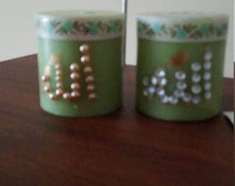 set of candles with matching frames Islamic art