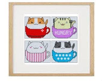 Cats 03 cross stitch pattern (download PDF)