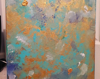 Abstract Texture Acrylic Painting