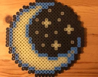 Moon perler beads (Glow in the dark)