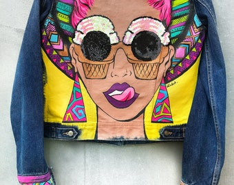jacket hand-painted