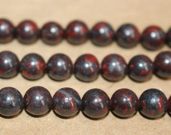 15 Inches Full strand,Red Brecciated Jasper round beads 6mm 8mm 10mm 12mm beads,loose beads,semi-precious stone