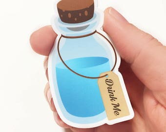 Drink Me Alice in Wonderland Sticker