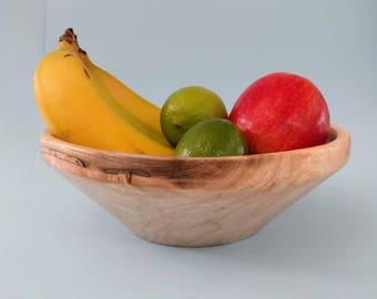 Fruit bowl, reclaimed hardwood bowl, large bowl, fruit bowl, wood bowl