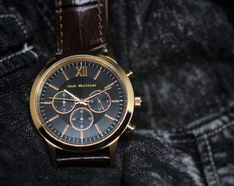 Rose gold chronograph