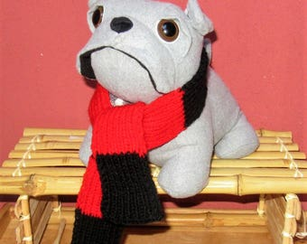 Dog scarf scarf hand knitted scarf winter scarf red/Black