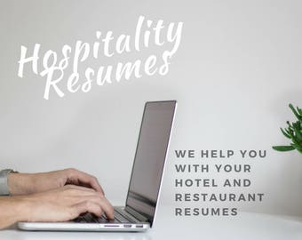 Hotel and Restaurant Resume writing Service