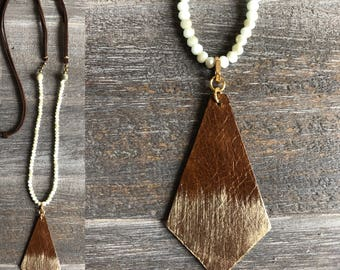 Leather Pendent Necklace