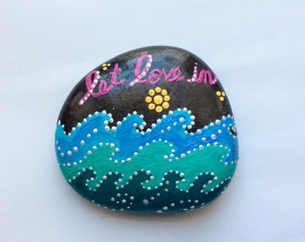 Let Love In painted rock