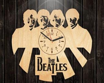 Paul McCartney, Beatles Wooden Clock, Music Gift For Men, John Lennon, Valentines Day Gift, Handmade Clock, Handmade Gifts, Wall Clock Large