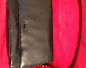 Vintage exterior leather / interior snakeskin 1960s bag