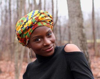 Kente African Print Headwrap
