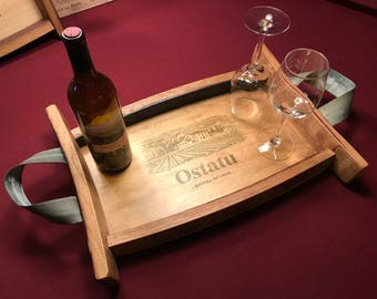 Wine box serving tray