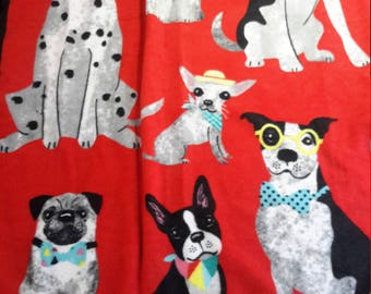 Party Pooch tie blanket
