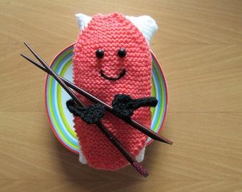Knitted Sushi PDF Pattern - Sushi-san (Mr Sushi) - Easy Knitting Pattern – Instant Digital Download