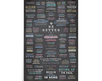 """Matte """"Be Better"""" Poster"""