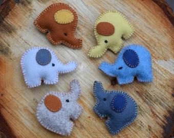 felt elephant ,set of elephants ,pure Merino Wool Toy Waldorf Toy Nursery Toy Kindergarten Natural Toy Organic Toy Safe Toy