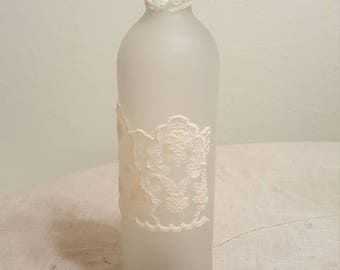 Frosted decorative bottle