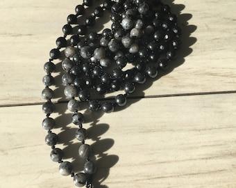 Black and Gray Buddha charm mala