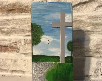 Wooden Block Painting: Nelsonville Cross, OH