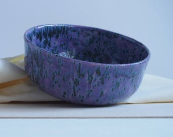 Handmade ceramic bowl, violet ceramic bowl, purple bowl, handmade pottery, decorative bowl, handmade gifts, bowl for trinkets, ceramic dish