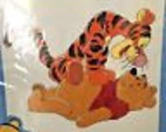 Disney Winnie the Pooh and Tigger Bounce Counted Cross Stitch Kit 34006