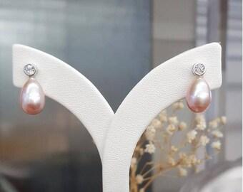 Pink Pearl Princess Earring