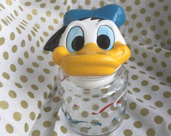Vintage 1960s Disney Canister with Donald Duck Head Lid