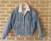 60s 70s Men's Jackets & Sweaters 1970s sherpa lined Levis denim jacket $65.00 AT vintagedancer.com