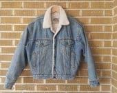60s 70s Men's Retro Sweaters, Jackets, Coats 1970s sherpa lined Levis denim jacket $65.00 AT vintagedancer.com