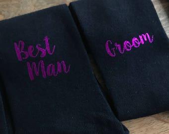 Metallic pink Wedding Day Socks