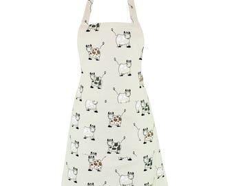 Linen & Cotton Stylish Apron Cow Design