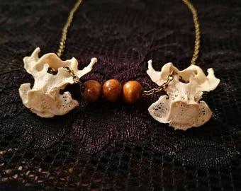Rabbit Vertebrae Bone Necklace
