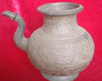 Ottoman Style Antique Perfect Hand Made Brass Pitcher #1111
