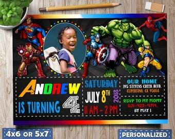 Superhero Invitation, Marvel invitations, Superheros, Avengers Birthday Invitation, Avengers Invitation, Avengers Birthday, Avengers party