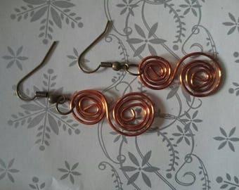 Double spiral earrings