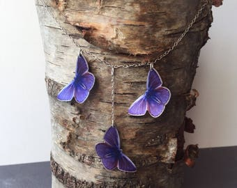 Beautiful Purple Butterfly Necklace