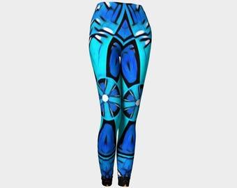 Blue city leggings