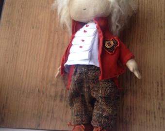 Art doll. Textiile doll. Handmade doll.