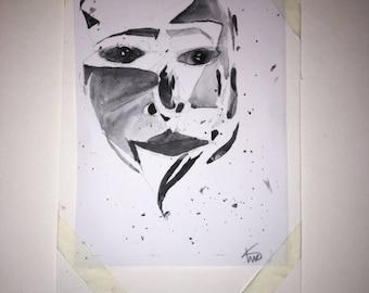 broken mirror - print