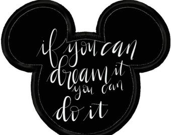 If You Can Dream it You Can Do It Hand Lettered Digital Download