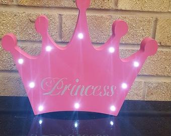 Light up princess tiara