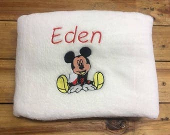 Blanket fleece personalized mickey