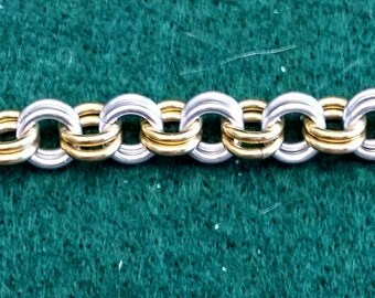 7 Inch 2 by 2 Chain Maille Bracelet