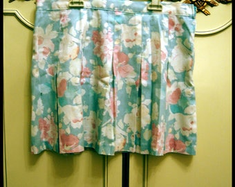 Vintage Pastel Colored Tennis Mini Skirt