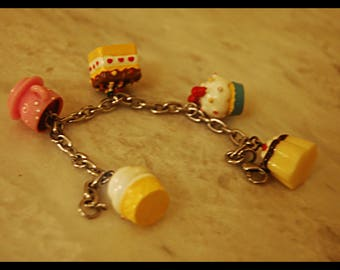 Kawaii Sweeties Candy Charm Bracelet