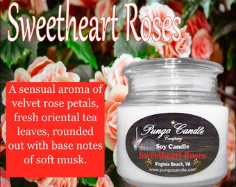 Sweetheart Roses! Scented Soy Jar Candle (16 oz.)