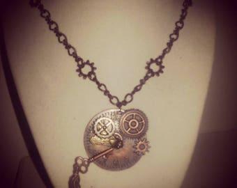 Large Steampunk Pendant Necklace