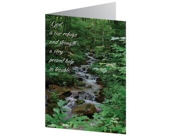 Sympathy Card - Psalm 46:1 KJV